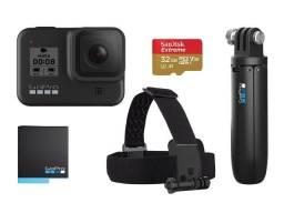 Câmera GoPro 8 Black Pacote Especial + Acessórios (nova)