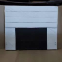 Título do anúncio: Cabeceira Rubi 140 cm Corano Branco - Mpozenato