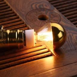 Lâmpada Defletora Filamento Rosê em LED