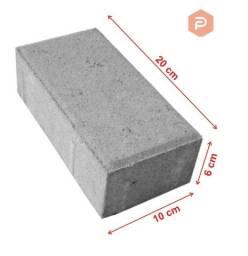 Paver 10x20x06cm ou 10x20x08cm  (natural) - Pavimento de Concreto
