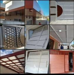 Portões e cobertas