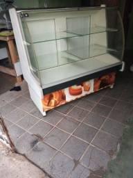 Balcão vitrine para pães e bolos 1,20 mts