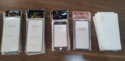 Kit películas 3d iphone e película normal Samsung e Motorola