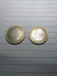 Moedas de euro rara.