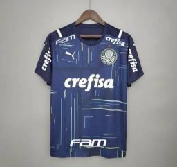 Camisa de Goleiro Palmeiras I 21/22 s/n°  Puma Masculina - Azul