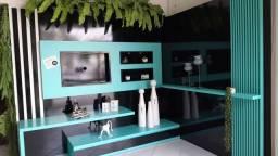 Troca de Showroom Home laca preto brilhante e verde musgo