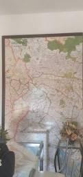 Mapa São Paulo- quadro com moldura
