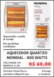 Aquecedor Quartzo Mondial - 800 Watts
