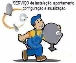 Apontamento e instalação de antenas satélite ou digital