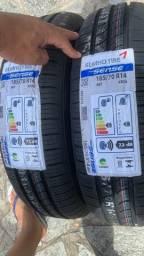Dois pneus 185/70/14 em 6x de 115,00 nos cartões