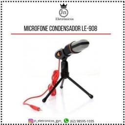 Título do anúncio: Microfone Condensador Com Tripé para Youtuber Lelong LE-908