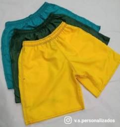 Short liso ou personalizado