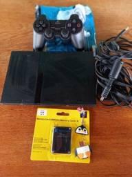 Vende-se um vídeo game ps2, (Playstation 2 slim)