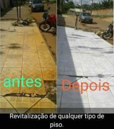 Limpeza e revitalização de pisos