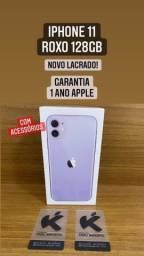 iPhone 11 128gb Roxo - Completo - Novo Lacrado Garantia de 1 ano.