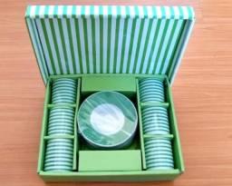 Jogo xícaras pequenas com pires para café - 50 ml
