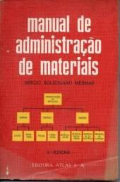 Livro - Manual de Administração de Materiais - Sérgio Bolsonaro Messias