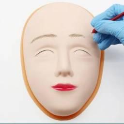 Título do anúncio: Pele Rosto Artificial 5 D Treino Micropigmentação Com Base