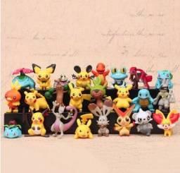 24 Bonecos Pokemon de coleção (Pikachu, Charizard, Sylveon)