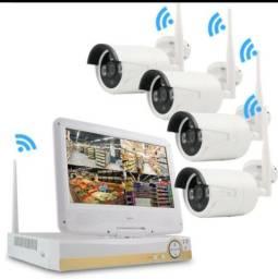 Kit 4 cameras de segurança full HD wi-fi