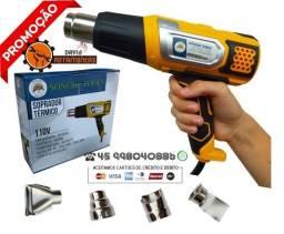 Soprador Ar Quente 2000w 110v 8 Regulavel 4 Ponteiras Novo