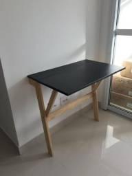 Escrivaninha Compacta Legno - Cru e Quadro Negro