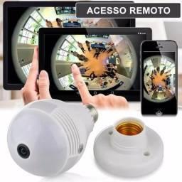 Lâmpada Câmera Led Wifi Ip Hd Panorâmica 360º Espião Celular