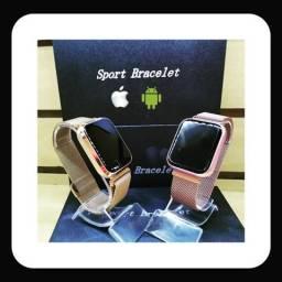 Relógio SmartWatch P68 Rosa ou Dourado