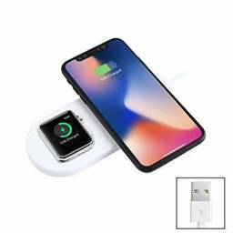 Carregador Sem Fio QI Magnético Apple Watch E Iphone Especial