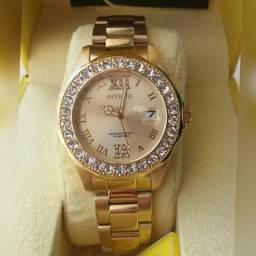Relógio Invicta Feminino Original, Banhado a Ouro 18K