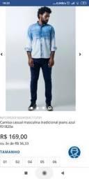 Camisa Manga Comprida Jeans Nova M