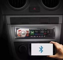 Som De Carro Mp3 Player Bluetooth Fm Sd Controle Remoto