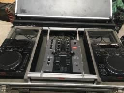 Kit DJ Pionner CDJ 350 + Mixer 250