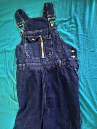 Jardineira jeans gestante TAM M