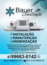 Instalação e manutenção de ar condicionado.