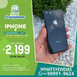 Iphone 8 PRETO ( 64GB ) BOM ESTADO+ GARANTIA 3 MESES ( CAIXA+ACESSÓRIOS )