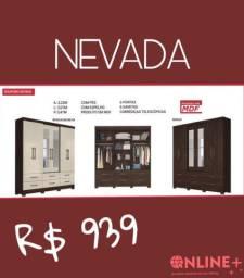 Guarda Roupa Nevada- 6 portas com espelho