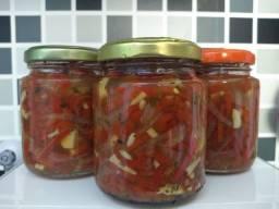 Pimenta em conserva fresco (pimenta, alho e cebola com orégano!)