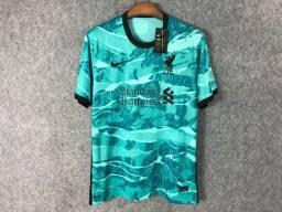 Camisa reserva do Liverpool 2020-2021 - M - Apenas Venda