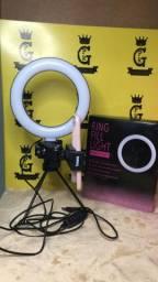 Ring light + suporte para celular