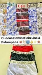 Kit 3 cuecas Calvin Klein por 35 reais Tam P ao GG