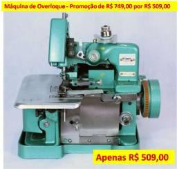 Máquina de Costura Overloque Semi Industrial Gn-1 com Base Portátil