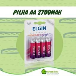 Pilha Elgin Recarregável AA 2700mAh