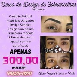 Curso de design de sobrancelhas Curitiba capão raso