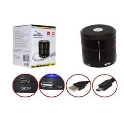 Mini caixa de som portátil speaker ws-887com bluetooth, fm, entrada micro sd e auxiliar.