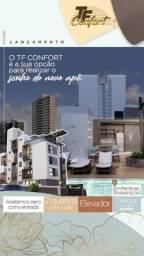 Ap 2 Qts, elevador e piscina/em frente Shopping Sul/Bancarios