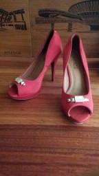 Sapato fino vermelho tam.37