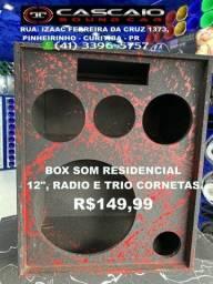 "caixa caicha box caixote gabinete falante trio bob 12 12"" R$150"