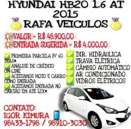 Hyundai hb20 1.6 flex AT 2015, falar com Igor - RAFA VEÍCULOS jj
