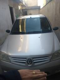 Renault Logan prata ano 2008 flex